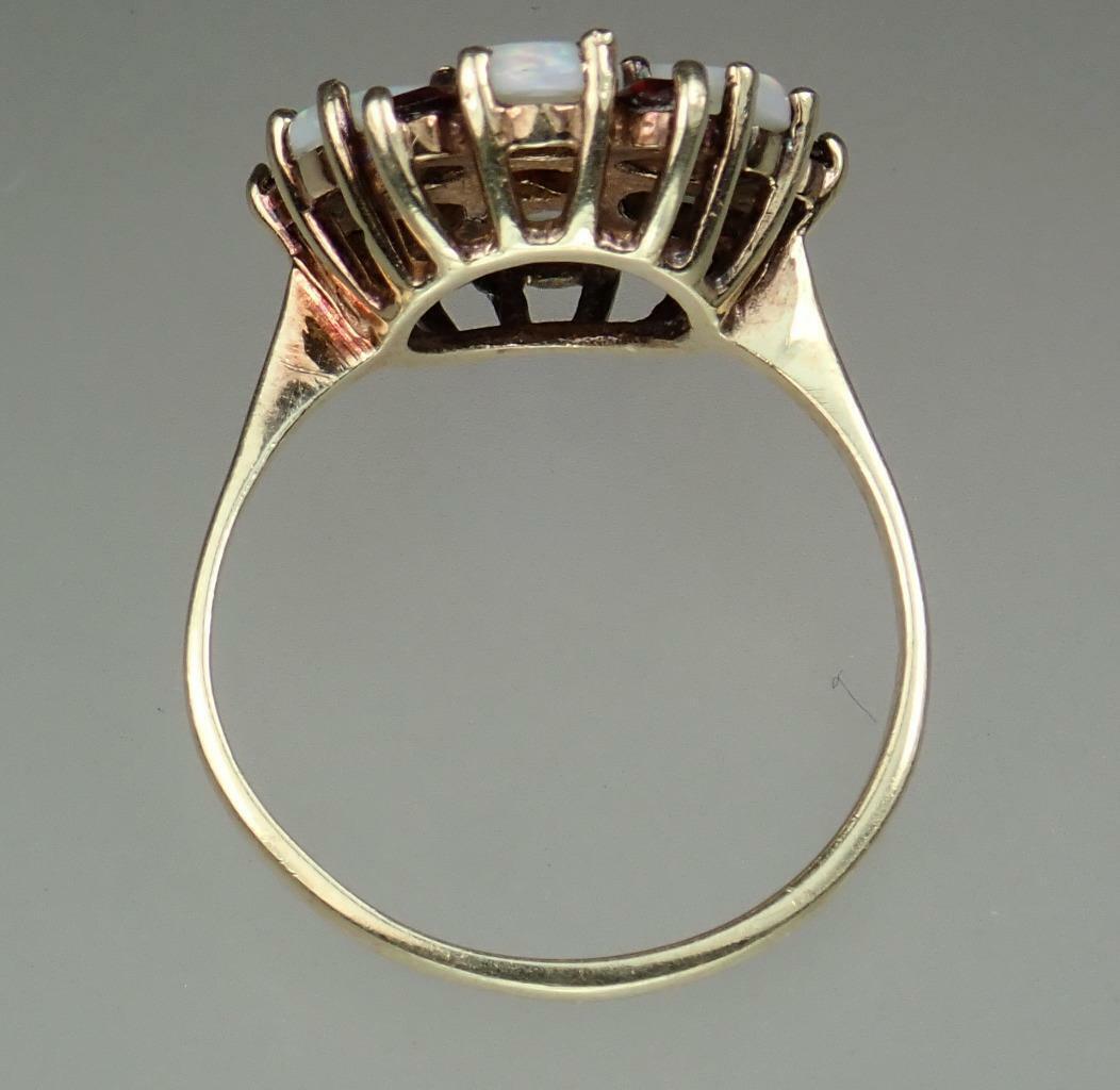 Beautiful Vintage Estate 9K Gold 1.1ct Opal Garne… - image 7