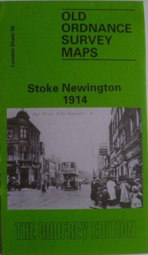 OLD ORDNANCE SURVEY MAPS LONDON STOKE NEWINGTON 1914 Sheet 30 New