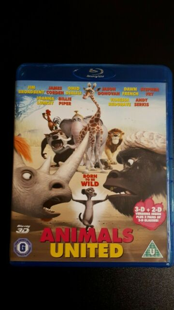 Animals United 3D + 2D Blu ray UK IMPORT Real 3D