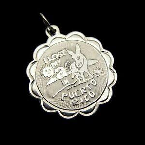 CREA-Sterling-Vintage-Donkey-Puerto-Rico-Charm-Pendant-Travel-Souvenir-Gift-NOS