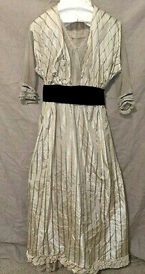 Victorian Edwardian Vintage Velvet Dress Fairytale Fantasy Gown Theater Wear 115