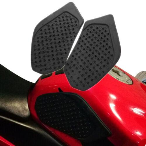 2x Motorrad Tankpad Tankschutz Kniepad Gummipad Schwarz für Honda CBR600RR 03-06