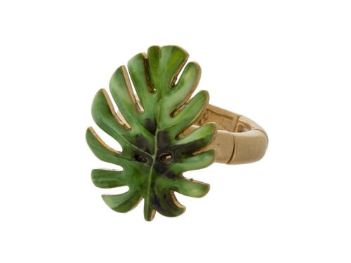 Colorful /& Fun Tropical Themed Metal Stretch Ring