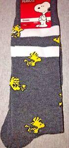 844b7eeec1 New PEANUTS Mens Pair Of Novelty Crew Socks WOODSTOCK Size 10-13