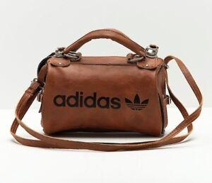 47b1f871b8 Adidas Original Arch Bag PU Leather Faux Vintage Slingbag Brown ...