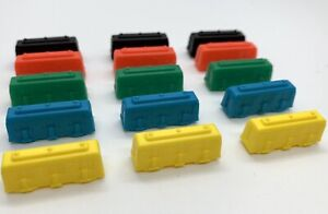 TICKET-TO-RIDE-game-Replacement-Trains-Pieces-Parts-3-Of-Each-Color-Total-Of-15