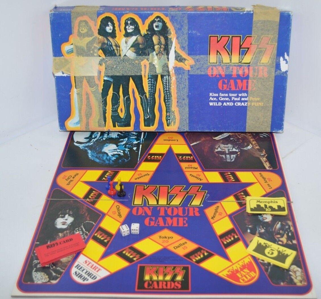 Vintage rare 1978 Kiss on tour Board Game Gene Simmons complet pièce de collection