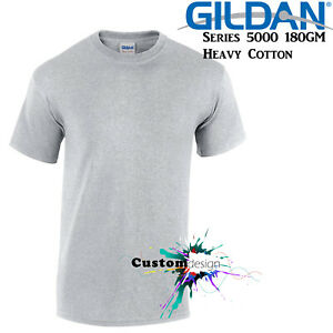 Gildan-T-SHIRT-Sport-Grey-Basic-tee-S-M-L-XL-2XL-XXL-Men-039-s-Heavy-Cotton