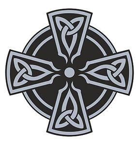 cruz-celta-pegatina-Gris-religioso-para-Coche-Motocicleta-Casco-GUITAR-PASTILLA