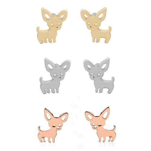 3 Farben Dame Schöne Hund Ohrstecker Welpen Ohrringe Tier Schmuck Zubehör