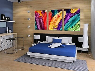 Canvas print wall art panorama modern photo poster decor leaves abstract 1758