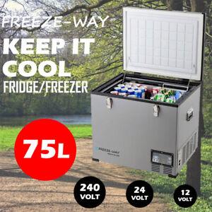 Freeze-Way 75L Car Boat Portable Fridge Freezer Home Cooler Camping Caravan