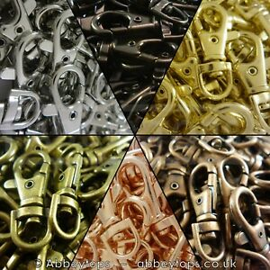 37mm-Lobster-Swivel-Clasps-Clips-Bag-Key-Ring-Hook-Findings-Keychain