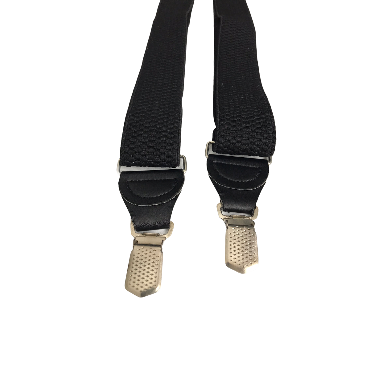 Men's Vintage Retro Black Chunky 3-Clip Adjustable Y-Shape Braces Suspenders