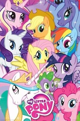 MY LITTLE PONY ~ 6 FACES COLLAGE 24x36 CARTOON POSTER Friendship Is Magic