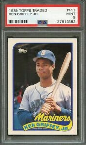 1989-Topps-Traded-41T-Ken-Griffey-Jr-Mariners-Rookie-Card-PSA-9-Mint