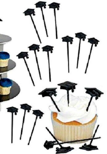 Amscan Lot of 30 Graduation Cap Party Picks for Cupcakes Canapes Cheese