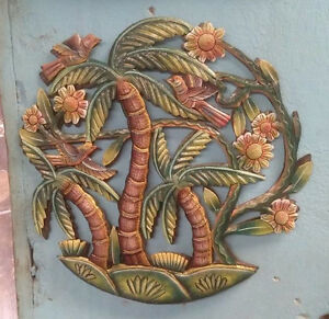 Details About Palm Tree Of Life Garden Art Hanging Wall Decorations Interior Ideas 24