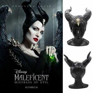 Details About Halloween Hat Horns Cosplay Maleficent Evil Queen Headpiece Headwear Costume New