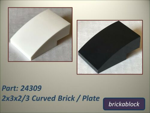 Plate ***NEW*** Lego Part 24309 2x3x2//3 Curved Brick Choose 2,4,6,8 or 10