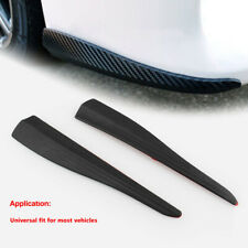 Universal JDM 245MM Carbon Style Bumper Lip Corner Scratch Protector Strip Guard