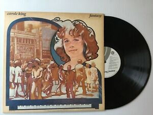 CAROLE-KING-Fantasy-1973-EX-EX-vinyl-LP-inner-sleeve-textured-cover