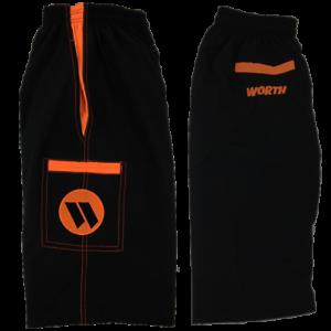 Black//Orange 2XL Worth Microfiber Shorts