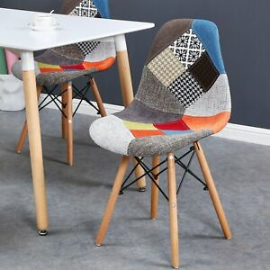 CHAISES SCANDINAVES PATCHWORK Chaise Scandinave Tissu