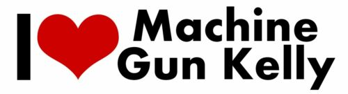 Machine Gun Kelly Rapper STICKER Heart I LOVE MGK DECAL VINYL DECOR CAR Graphic