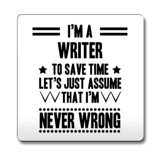 Noir jamais mauvais écrivain Drôle Idée Cadeau Coaster travail 238