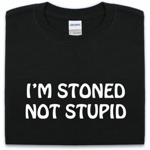 No soy drogado Estúpida Gracioso Para Hombre Camiseta S-XXL droga marihuana alta Dope
