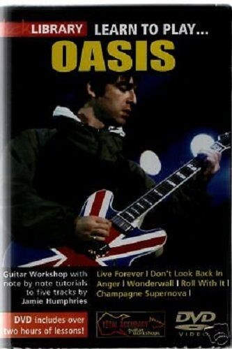 1 of 1 - LICK LIBRARY Learn to Play OASIS WONDERWALL LIVE FOREVER Rock Lesson Guitar DVD
