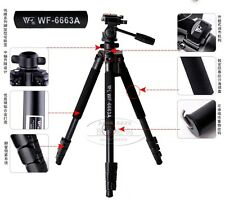 Weifeng WF-6663A Pro Tripod  for camera Camcorder Binoculars video with head