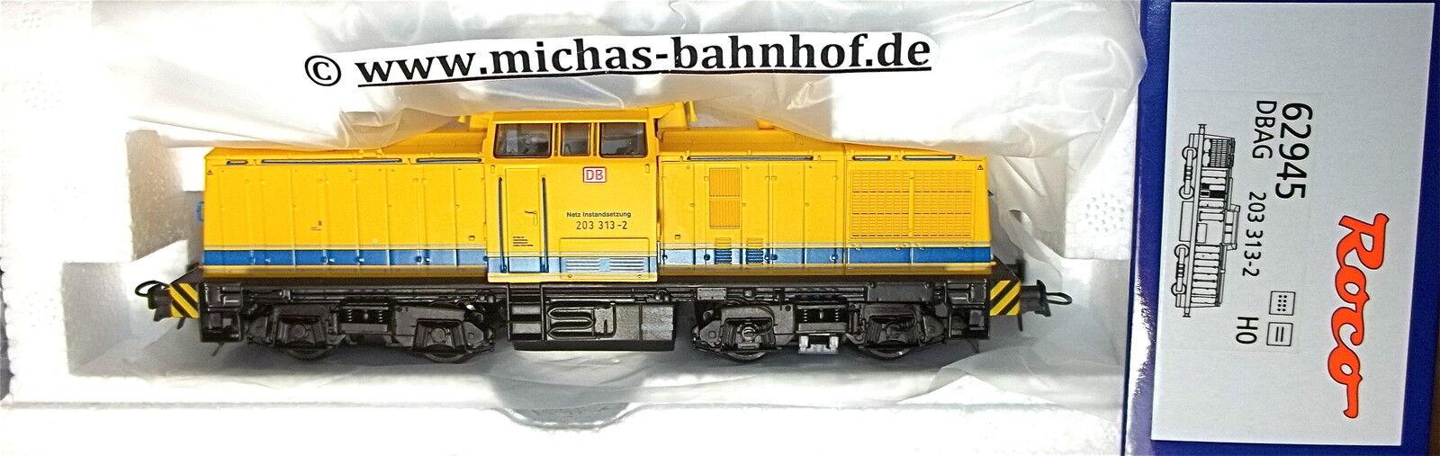 203 Diesel Ex Br 114 Dr Allemand Construction de Voies Ferrées Dbag Roco 62945