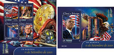 September 11 President Bush Obama Fire Engines Sao Tome and Principe stamp set