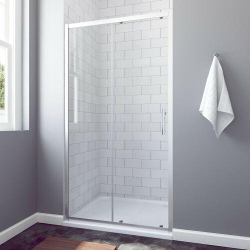130cm Duschkabine Schiebetür Duschabtrennung Duschtür Duschwand 5+6mm ESG 185cm