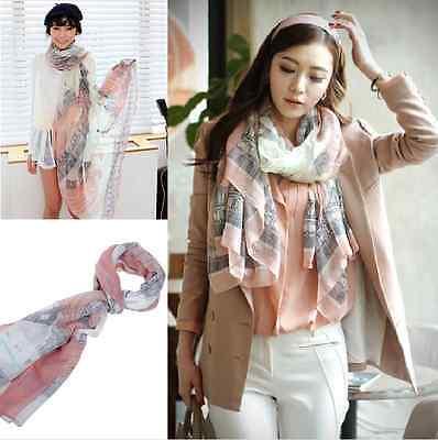 Fashion Women Long Print Cotton Scarf Wrap Ladies Shawl Girls Large Silk Scarves