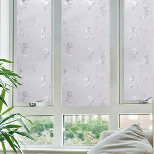 Lots 3D Static Cling Cover Frosted Window Glass Film Sticker Privacy Home Decor