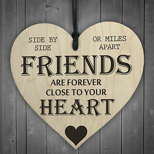 Brilliant Details About Friends Are Forever Wooden Hanging Heart Friendship Gift Shabby Chic Plaque Sign Home Interior And Landscaping Ponolsignezvosmurscom