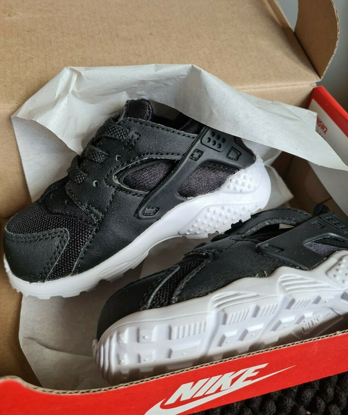 Girls Boys Nike Huarache Run TD Black