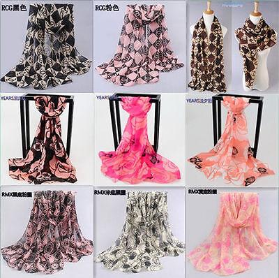 Ladies Women Fashion Print Neck Shawl Scarf Scarves Wrap Stole Warm Gift - UK