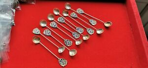 Service-of-12-Spoons-Antique-Silver-Enamelled-Africa-North-REF55295