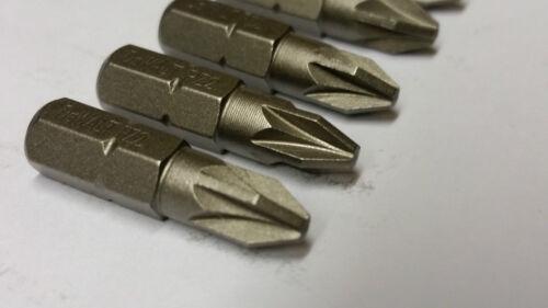 DEWALT DT7908 PZ2 POZI SCREWDRIVER BITS X 5 25mm