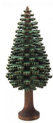 Baum grün lasiert Höhe = 15,5cm NEU Erzgebirge Holzbaum Dekobaum