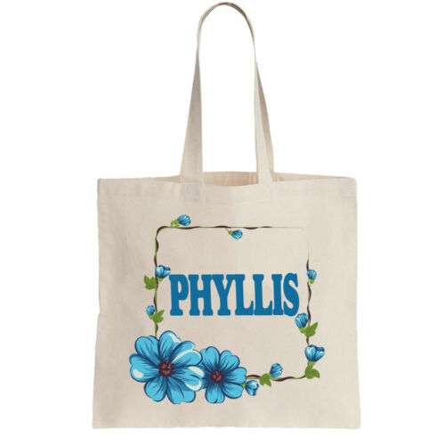 Phyllis Ladies Personalised Shopping Bag Tote can amend to ANY NAME Shopper