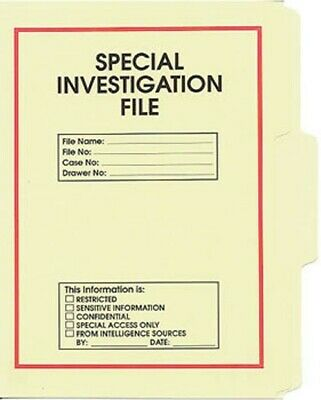 Special Activities Division File Folder 5-Pack