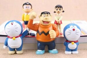 Doraemon-cheer-up-anime-figure-figures-Set-of-5pcs-doll-Toy-anime-collect