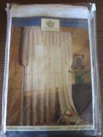 Oxford House Lace FONTAINE Curtain Panel -White  60 X 63 Made in USA