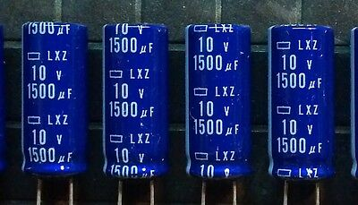 1500uF 10V 105°C 10x25mm Electrolytic Capacitors -10pcs