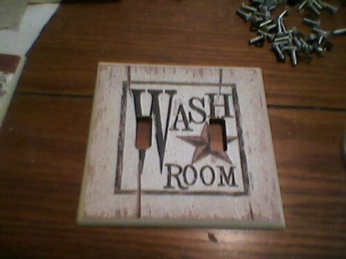 wash room star double Toggle LightSwitch Cover wall home artwork